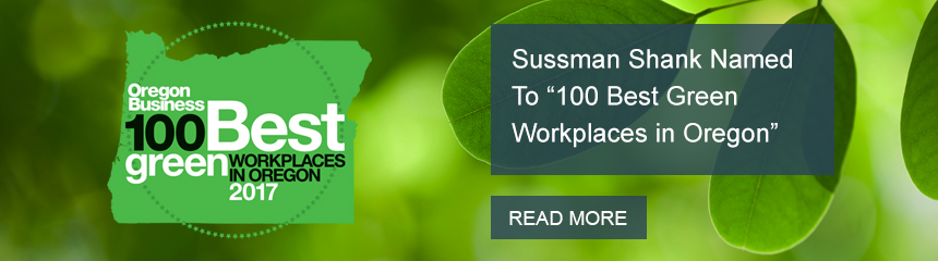 Sussman Shank Named One of 2017 100 Best Green Workplaces in Oregon
