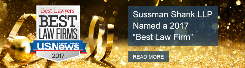 "Sussman Shank LLP Named a 2017 ""Best Law Firm"""